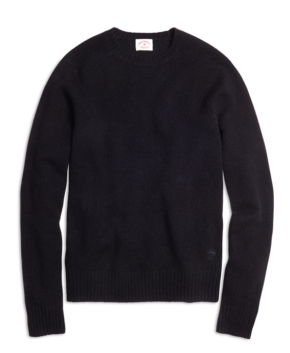 Shetland Wool Crewneck Sweater Black