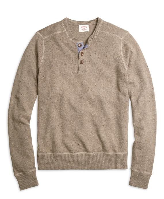 Three-Button Henley Sweater