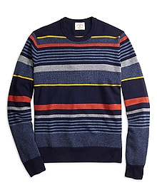 Lambswool Stripe Crewneck Sweater