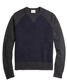 Herringbone Crewneck Sweater