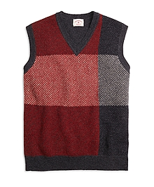 Exploded Buffalo Check Vest