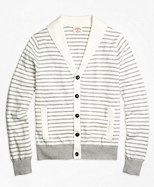 Supima® Cotton Stripe Cardigan