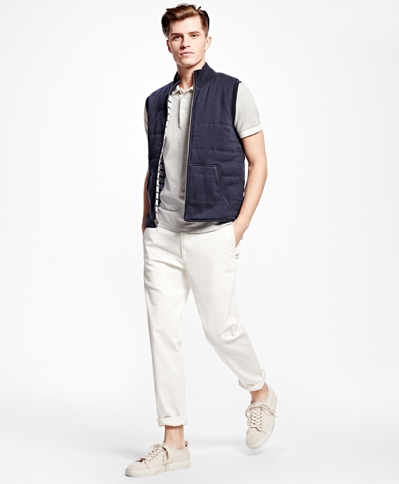 Reversible Quilted Vest Navy