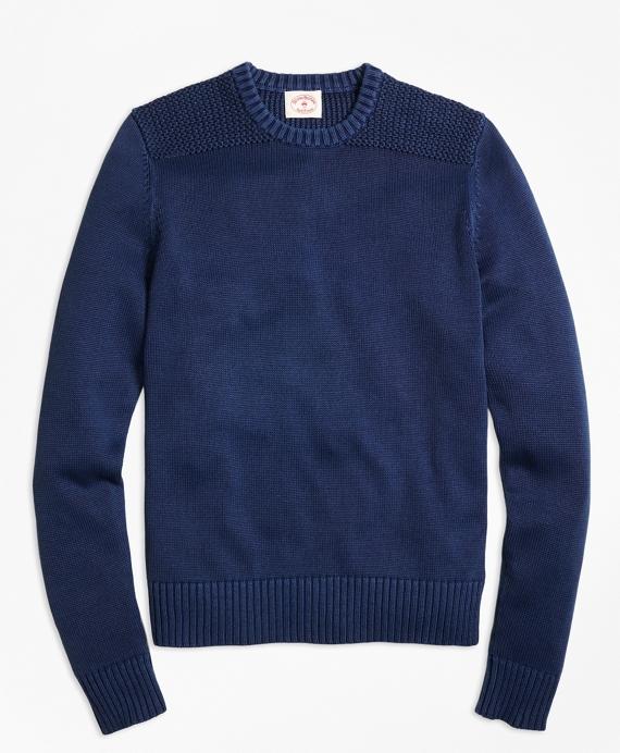 Garment-Dyed Crewneck Sweater Navy