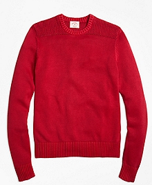 Garment-Dyed Crewneck Sweater