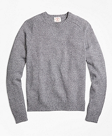Marled Cotton Crewneck Sweater