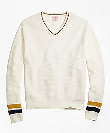 Vintage Tennis V-Neck Sweater