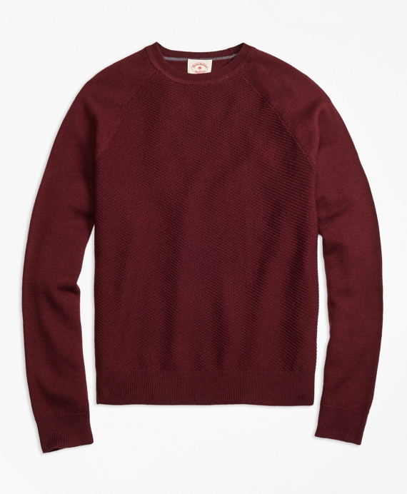 French Terry Raglan Crewneck Sweatshirt - Brooks Brothers