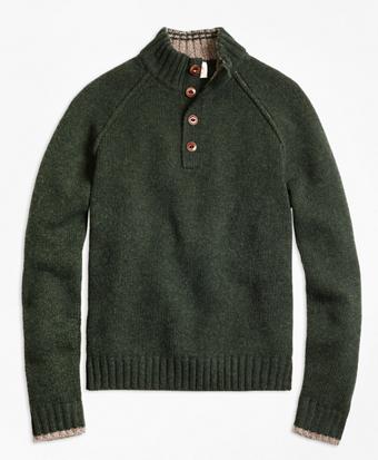 Wool Mockneck Sweater