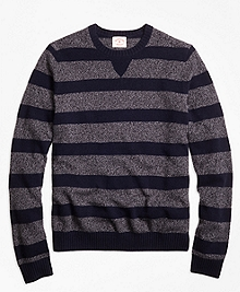 Marled Stripe Crewneck Sweater