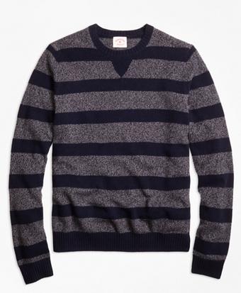 Marled Stripe Crewneck Sweater