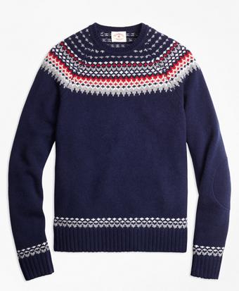Nordic Fair Isle Crewneck Sweater