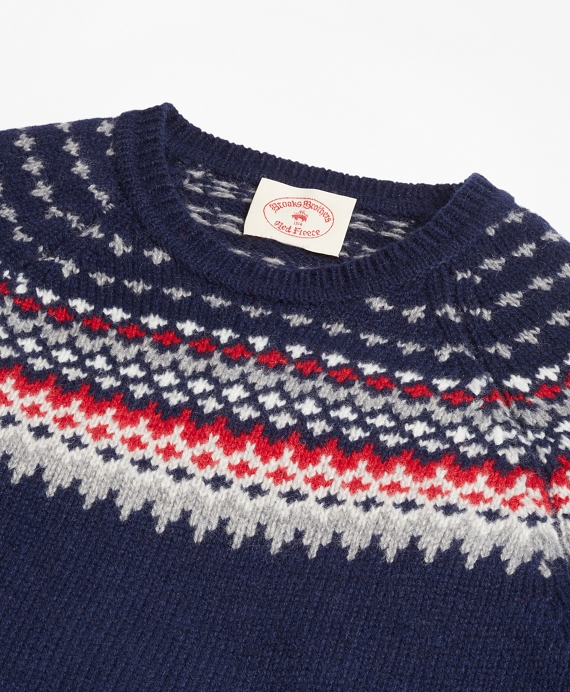 Nordic Fair Isle Crewneck Sweater - Brooks Brothers