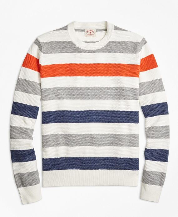 Multi-Stripe Crewneck Sweater Multi