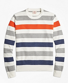 Multi-Stripe Crewneck Sweater