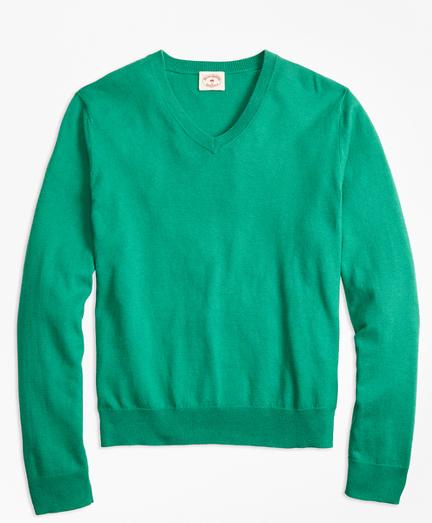 Cotton-Cashmere V-Neck Sweater
