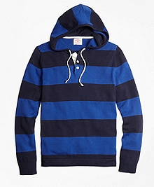 Rugby Stripe Hooded Sweater