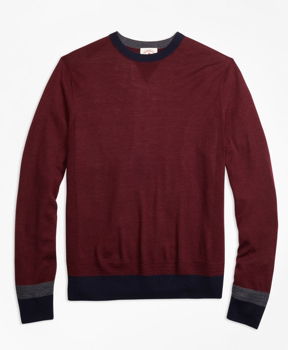 Colorblock Merino Wool Sweater - Brooks Brothers