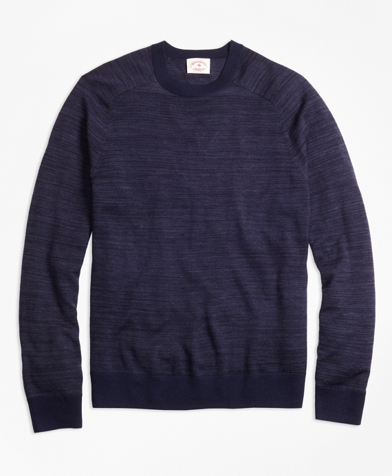 Space-Dyed Merino Wool Sweater Navy