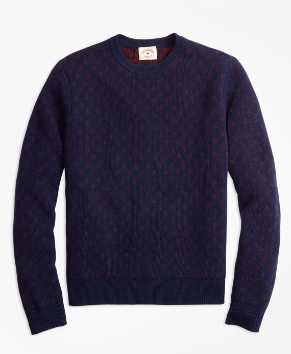 Foulard Jacquard Sweater Navy
