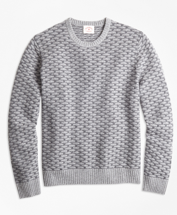 Textured Wool-Blend Sweater Grey