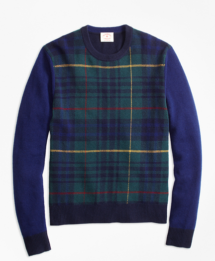 Stewart Hunting Tartan Wool-Blend Sweater