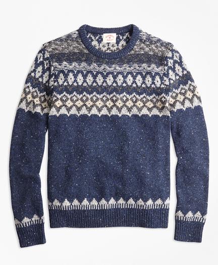 Wool-Alpaca-Blend Fair Isle Sweater
