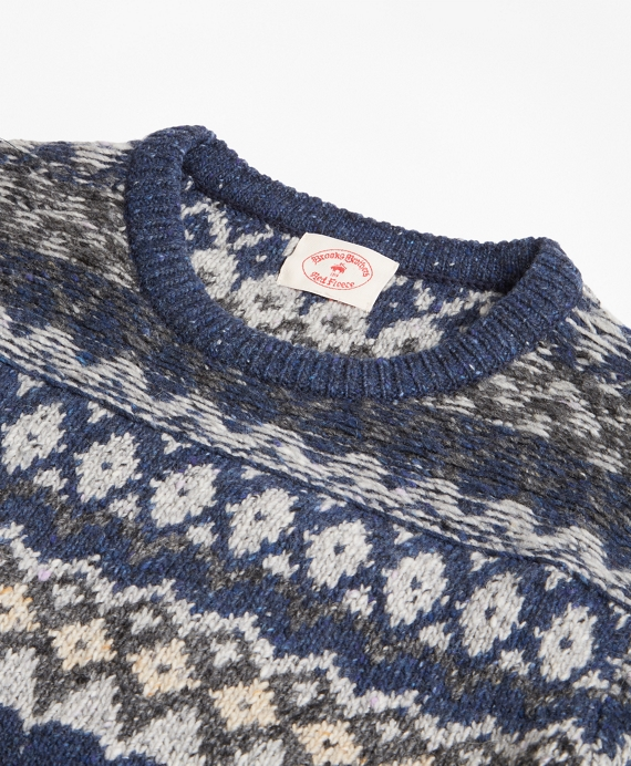 Wool-Alpaca-Blend Fair Isle Sweater - Brooks Brothers