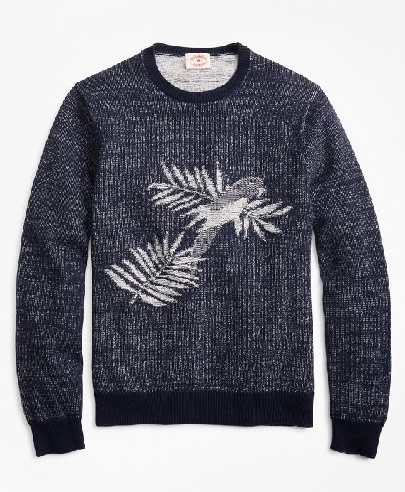 Parrot Crewneck Sweater Blue