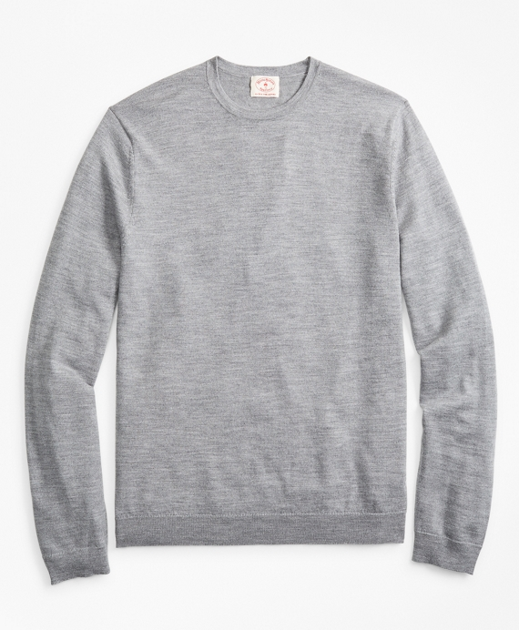 Merino Wool Crewneck Sweater Grey