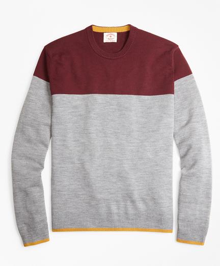 Color-Block Merino Wool Sweater