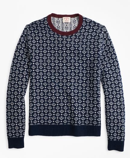 Geometric-Print Wool Sweater