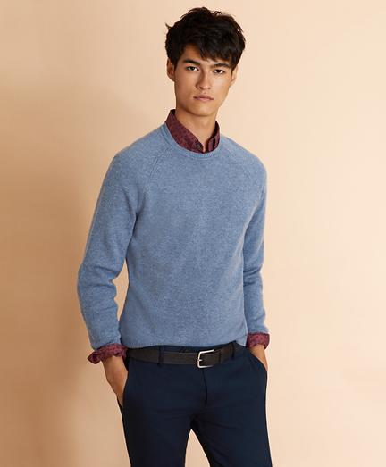 Lambswool Raglan Crewneck Sweater