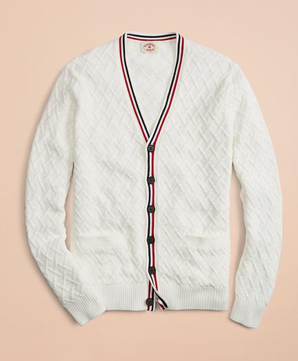 Cotton V-Neck Tennis Cardigan