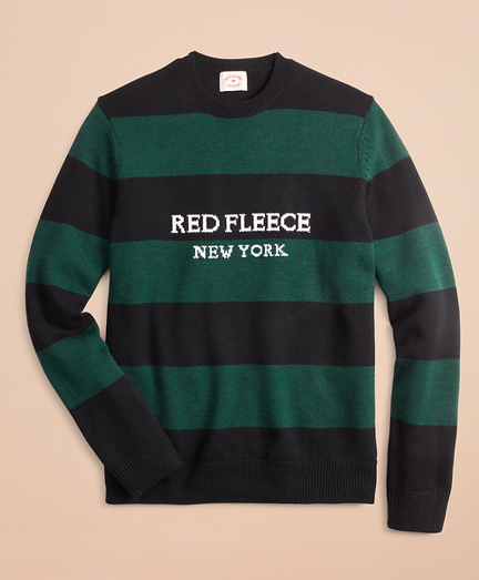 Merino Wool Red Fleece NY Sweater