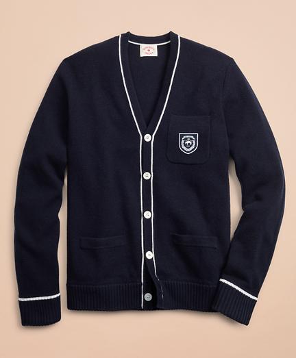 Wool-Blend Patch Cardigan