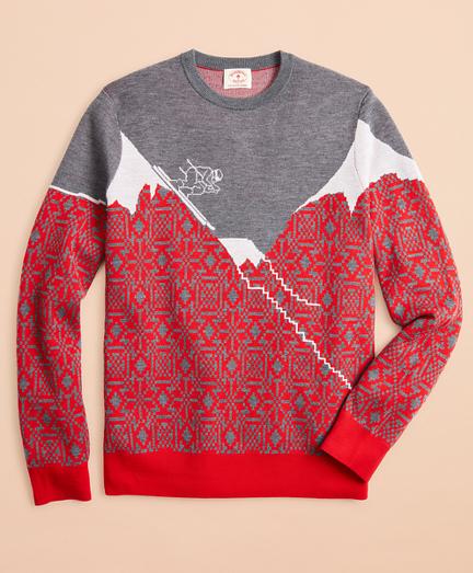 Washable Merino Wool Ski Sweater