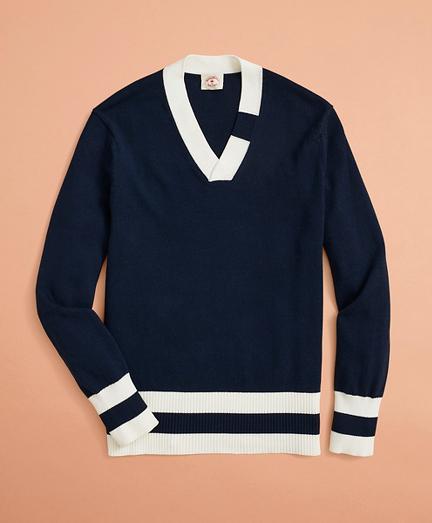 V-Neck Tennis Sweater