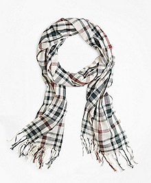 Two-Tone Plaid Scarf