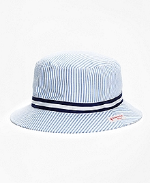 Stripe Seersucker Bucket Hat