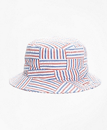 Patchwork Seersucker Bucket Hat