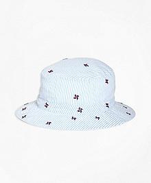 Pinwheel Seersucker Bucket Hat