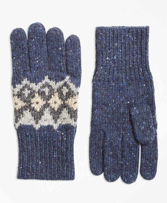 Fair Isle Wool-Blend Gloves