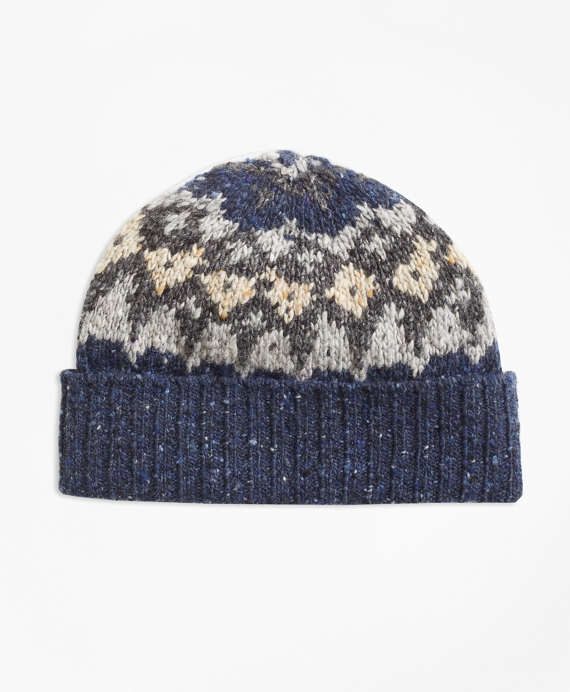 Fair Isle Wool-Blend Hat - Brooks Brothers