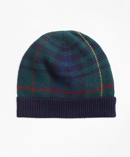 Tartan Merino Wool-Blend Hat