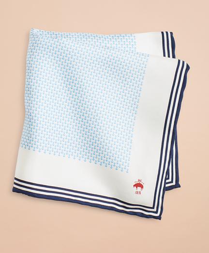 Silk Anchor Pocket Square