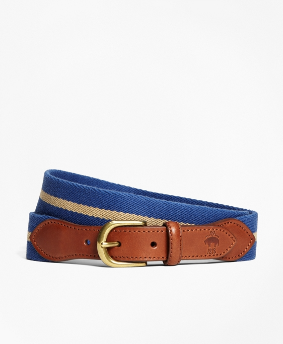 Naval Stripe Belt Blue-Khaki