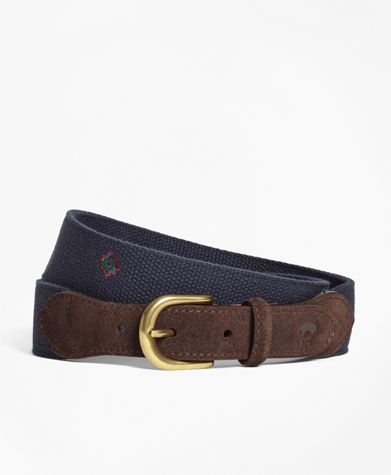 Medallion-Embroidered Cotton Belt