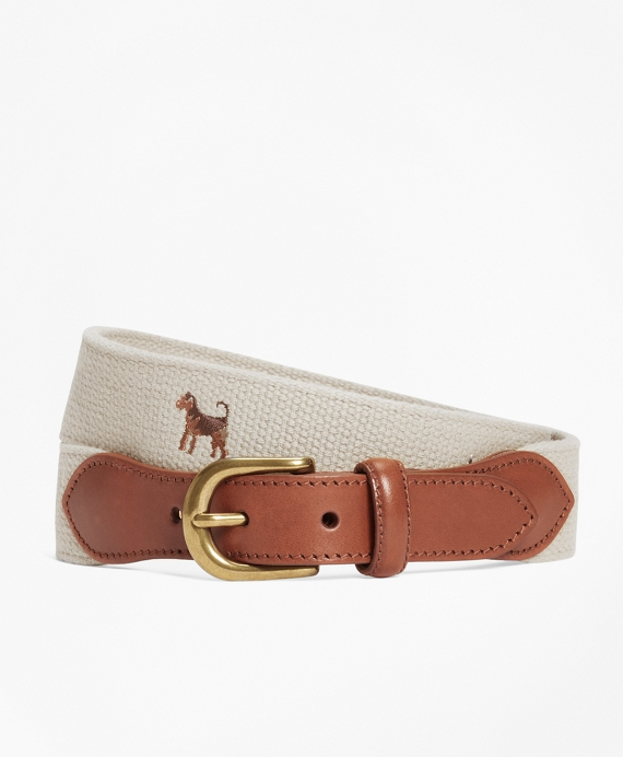 Embroidered Dog Belt Khaki