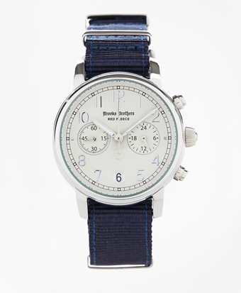 Round White Face Watch with Nylon Band